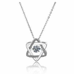 925 Sterling Silver Hexagonal Star Shape Necklace